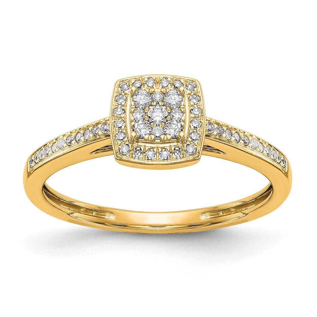 Complete Diamond Cluster Engagement Ring 14k White Gold, MPN: RM2389E-019-YAAUPC: