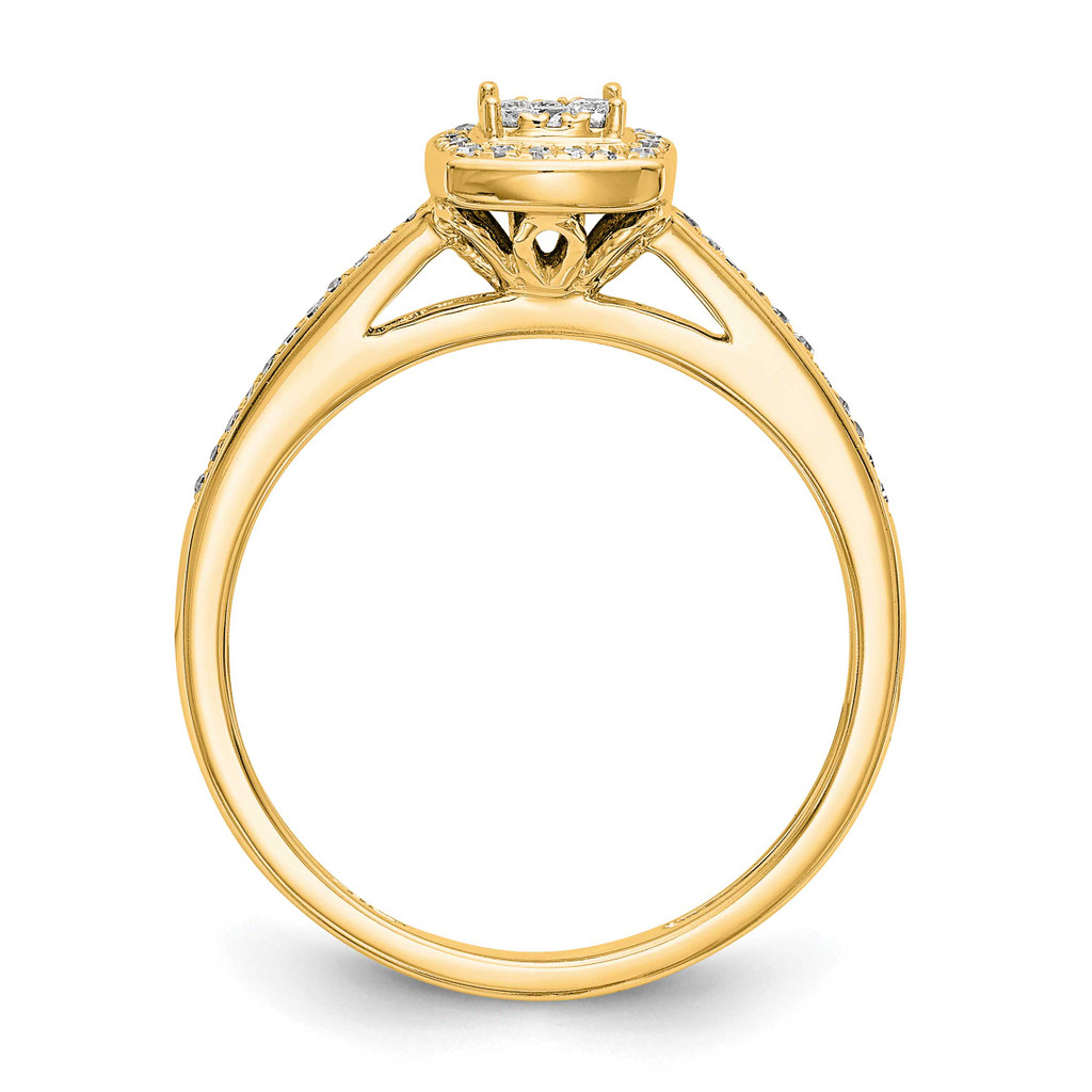 Complete Diamond Cluster Engagement Ring 14k White Gold RM2389E-019-YAA