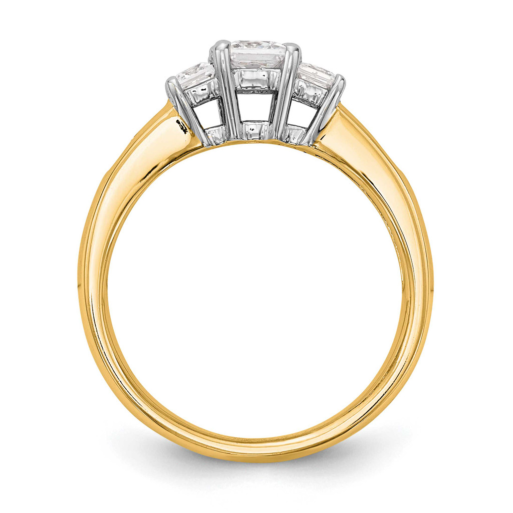 3-Stone Diamond Semi-Mount Engagement Ring 14k Two-tone Gold RM3007E-033-YWAA