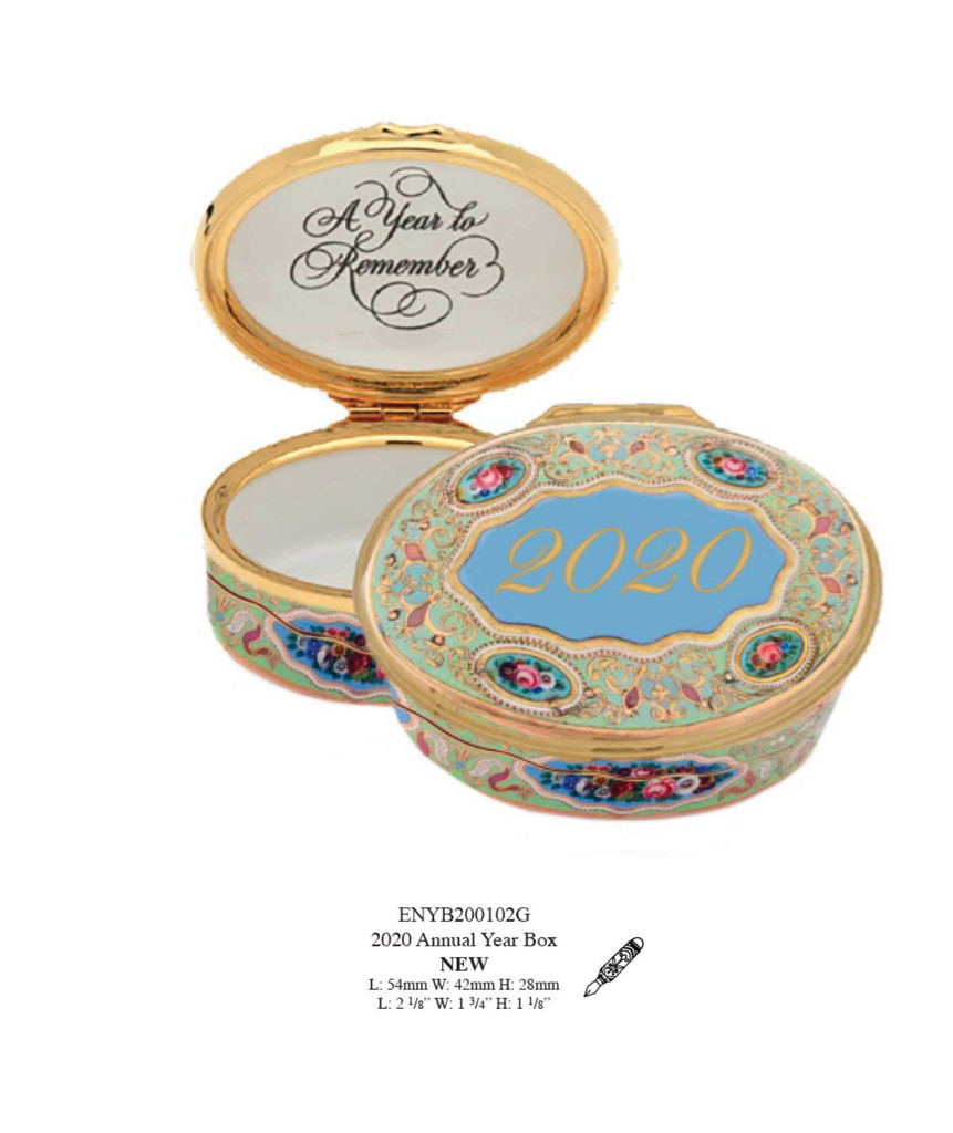 Halcyon Days 2020 Year Box Enamel Box, MPN: ENYB200102G, EAN: 5055273102758.
