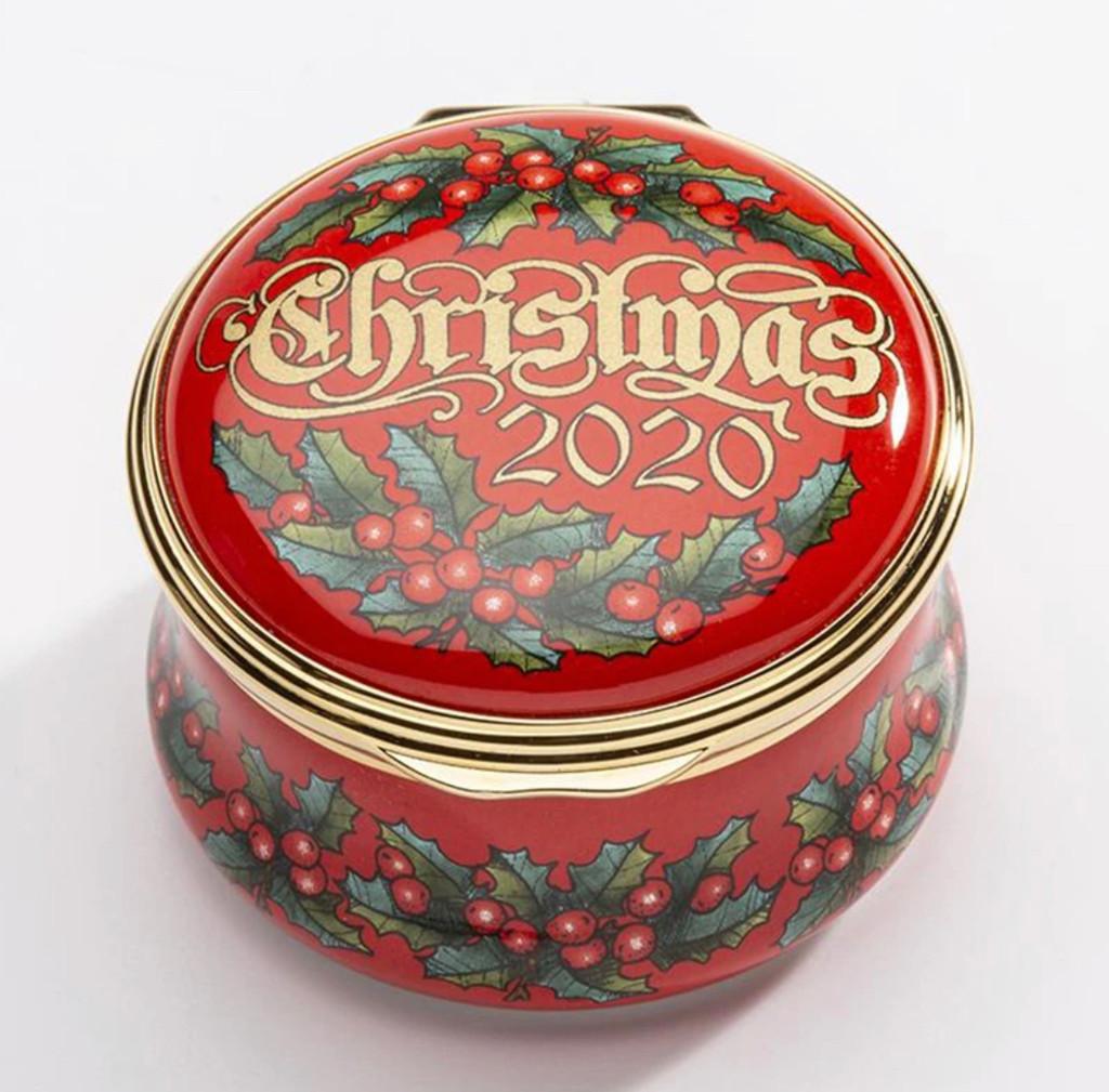 Halcyon Days 2020 Christmas Box Enamel Box ENCH200101G