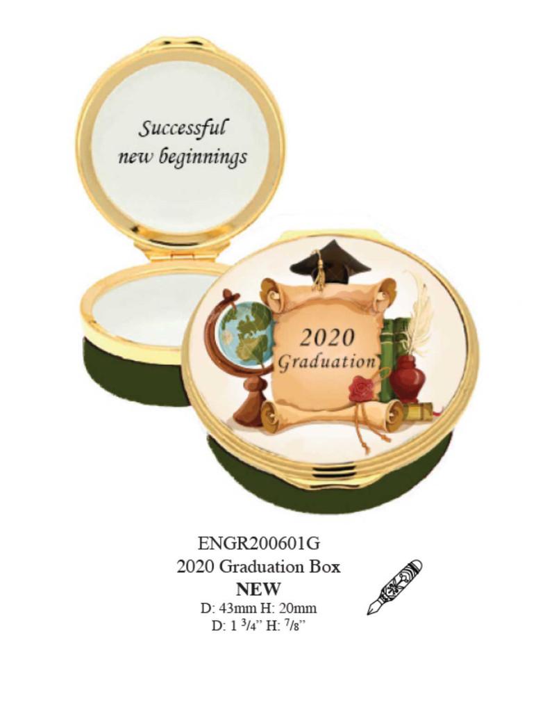 Halcyon Days 2020 Graduation Enamel Box, MPN: ENGR200601G, EAN: 5055273103199.