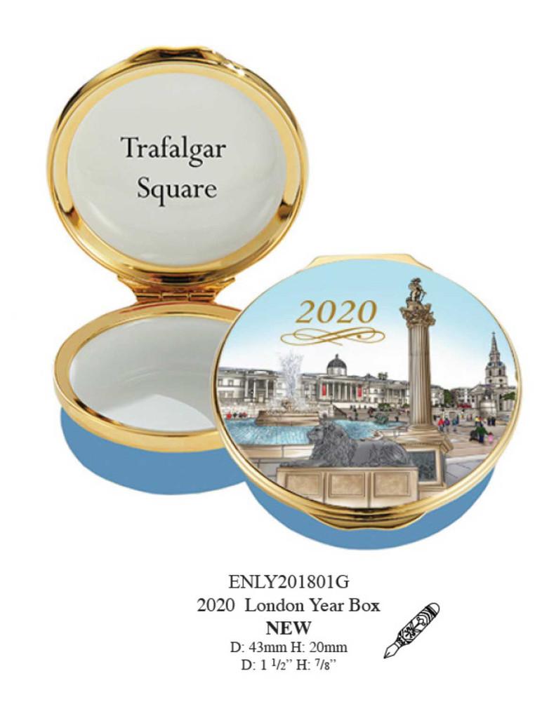 Halcyon Days 2020 London Year Box Enamel Box, MPN: ENLY201801G, EAN: 5055273103205.