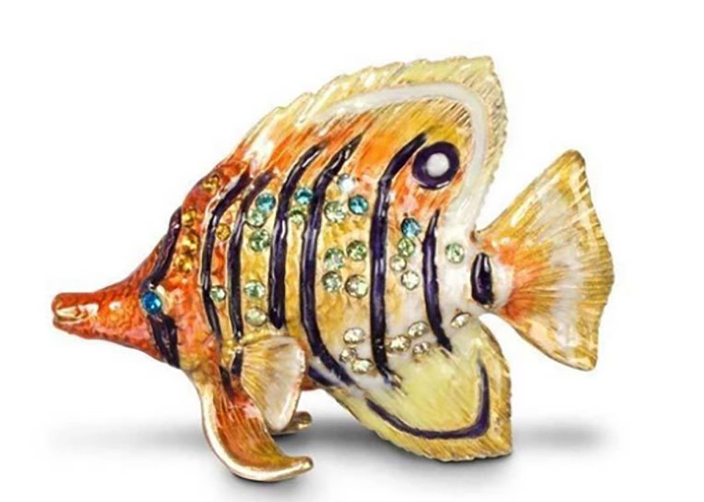 Jay Strongwater Melvin Mini Butterfly Fish Figurine, MPN: SDH1820-239, UPC: 848510014830