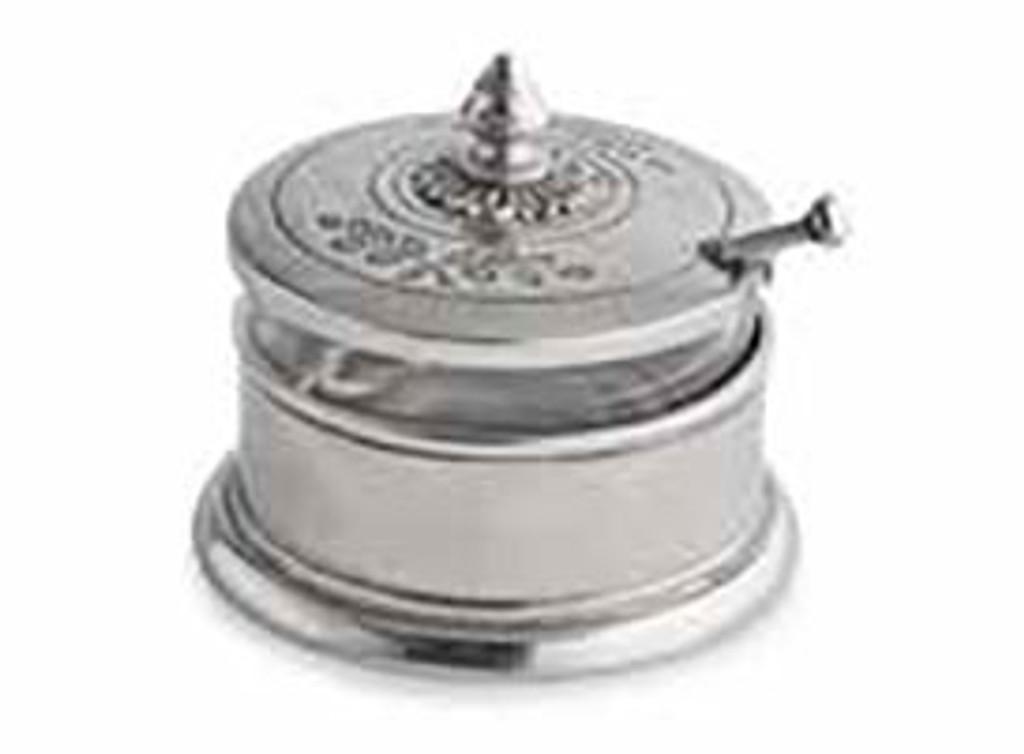 Arte Italica Peltro Condiment Bowl with Spoon, MPN: PEL6745, UPC: 814639005615
