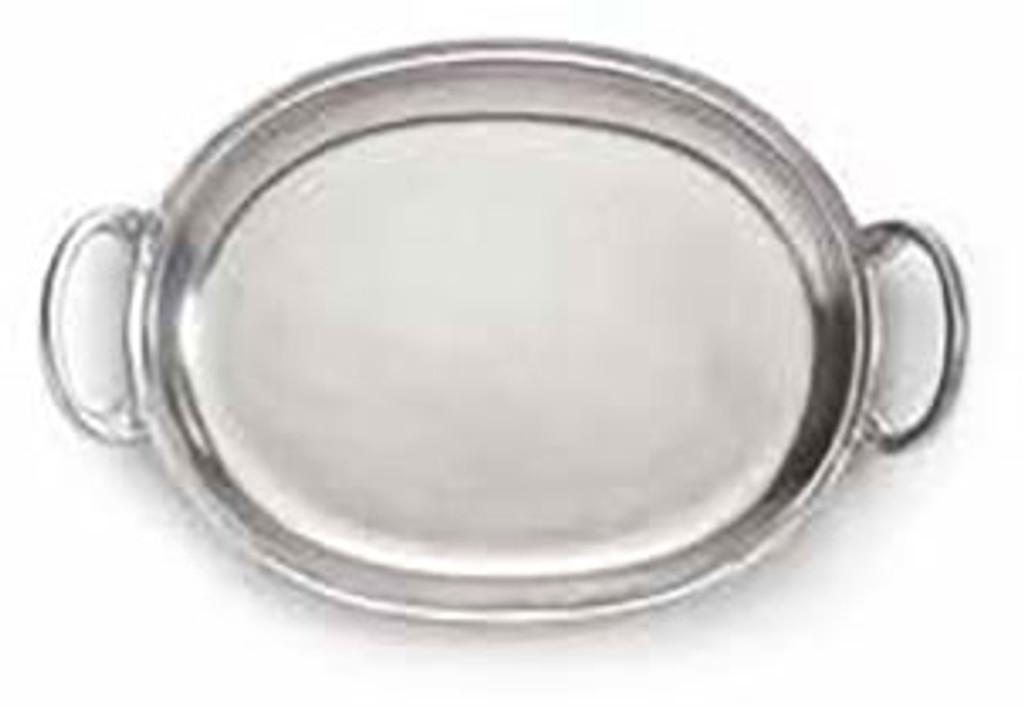 Arte Italica Peltro Small Tray with Handles, MPN: PEL6728, UPC: 814639004625