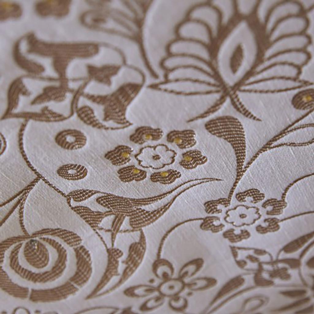 Le Jacquard Francais Haute Couture Swarovski Gold Tablecloth 69 x 126 Inch 25808, EAN: 3660269258085, MPN: 25808