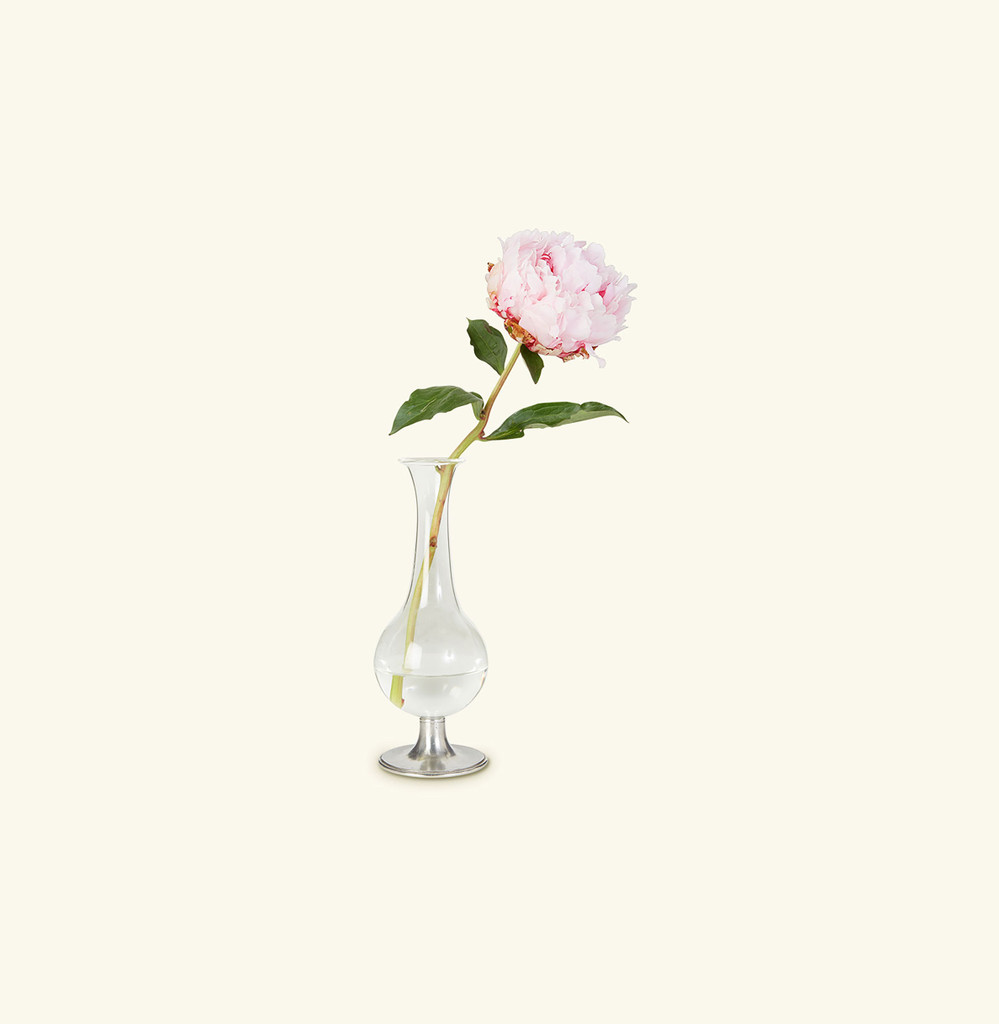 Match Pewter Pewter Footed Glass Vase , MPN: 938
