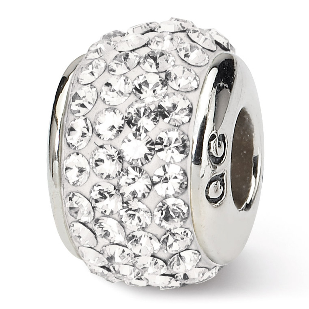 April Full Swarovski Elements Bead - Sterling Silver QRS1252APR