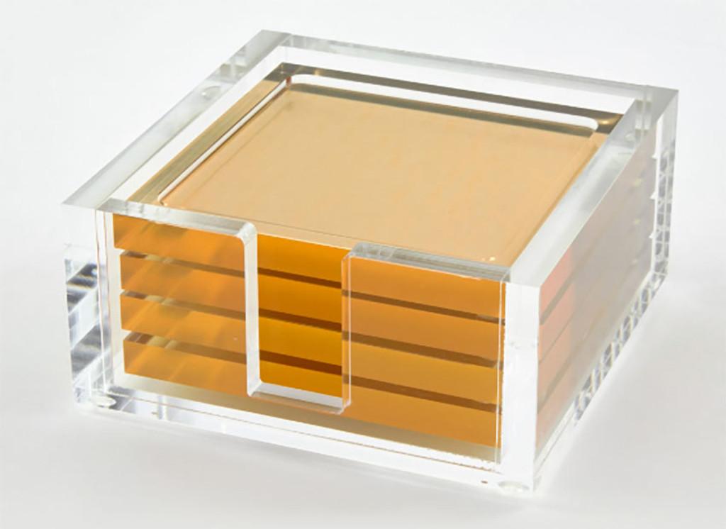 Tizo Lucite Coaster Set Gold, MPN: HA110GDCO