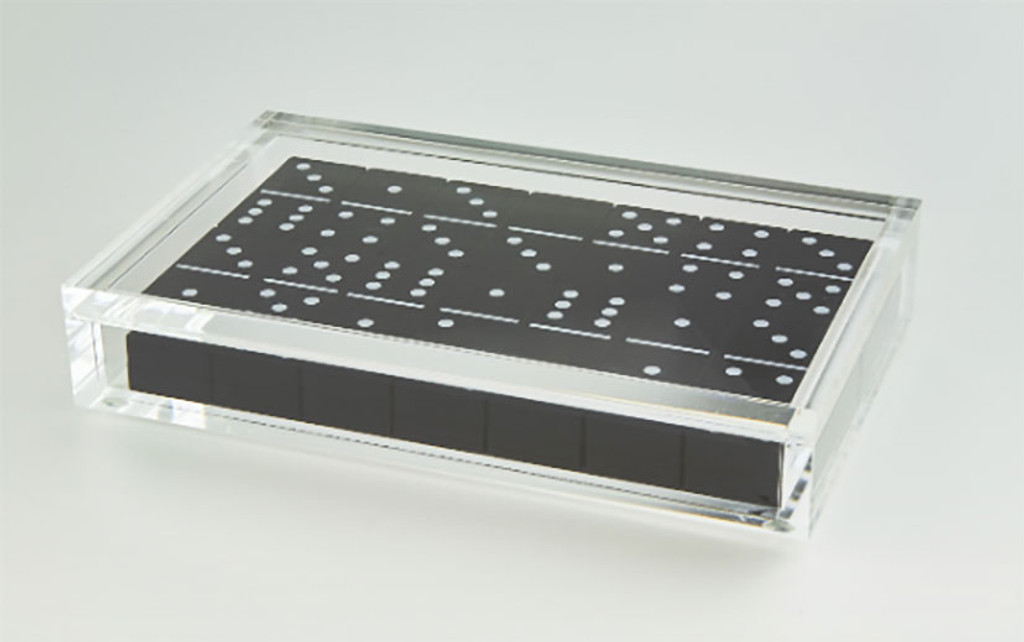 Tizo Lucite Domino Set Black, MPN: HA115BKDM