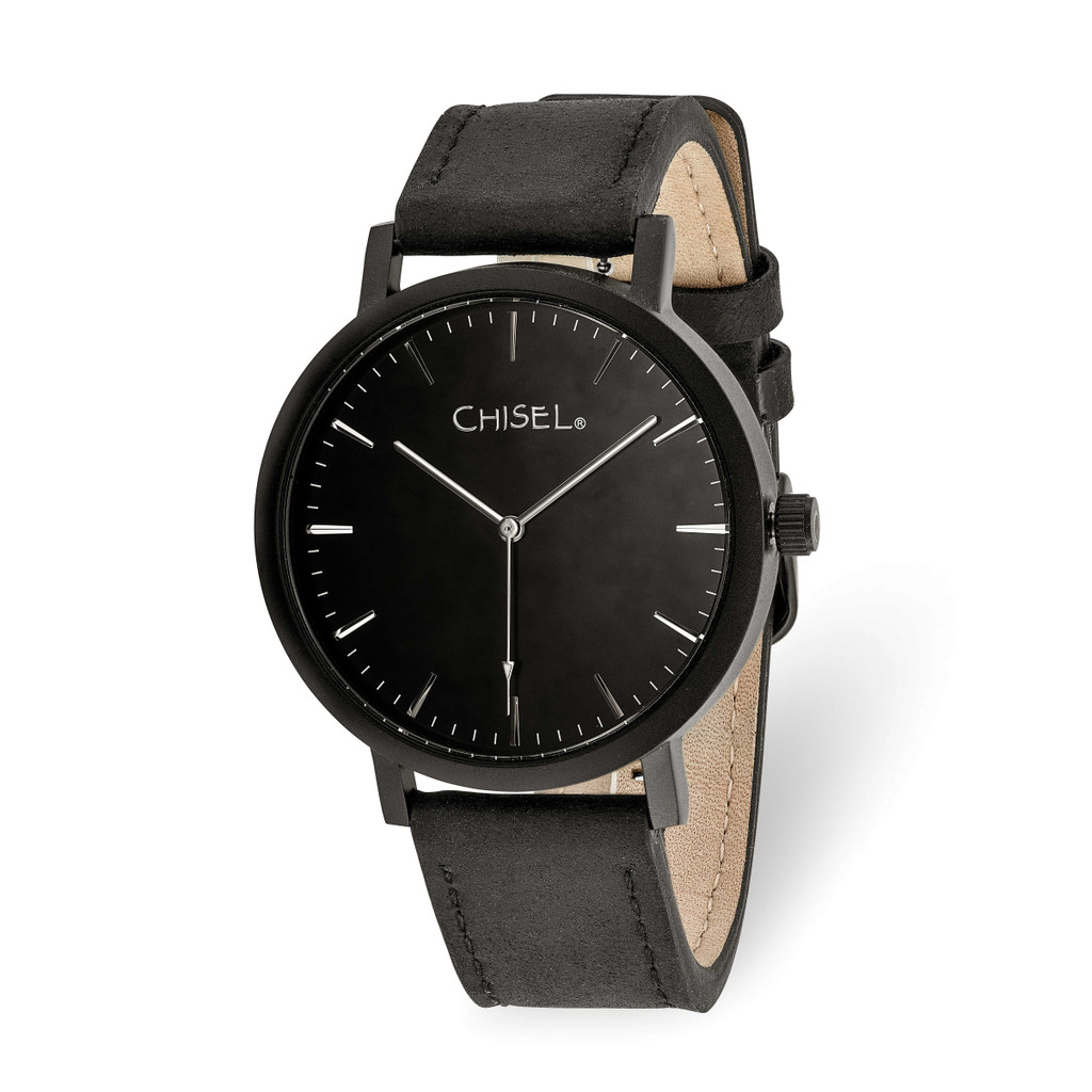 Chisel Matte Black IP-plated Black Dial Watch Matte Black, MPN: TPW126, UPC: