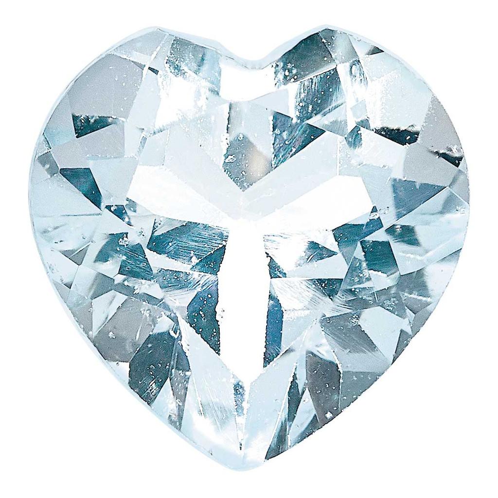 Aquamarine 4mm Heart Faceted A Quality, MPN: AQ-0400-HTF-A, UPC: