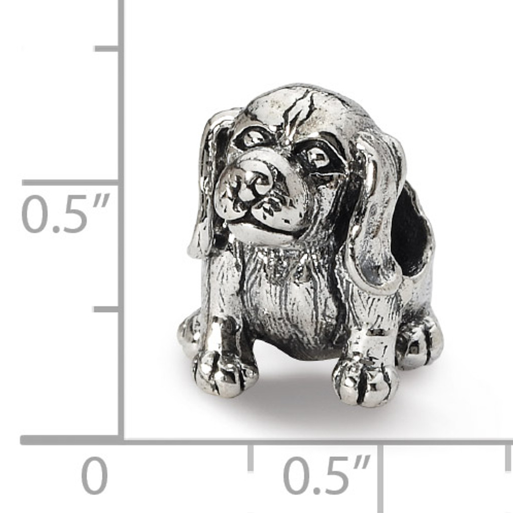 Beagle Bead - Sterling Silver QRS1783