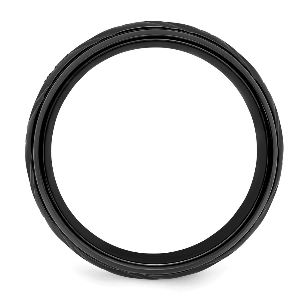 8mm Band Black Zirconium Polished ZCR103-10