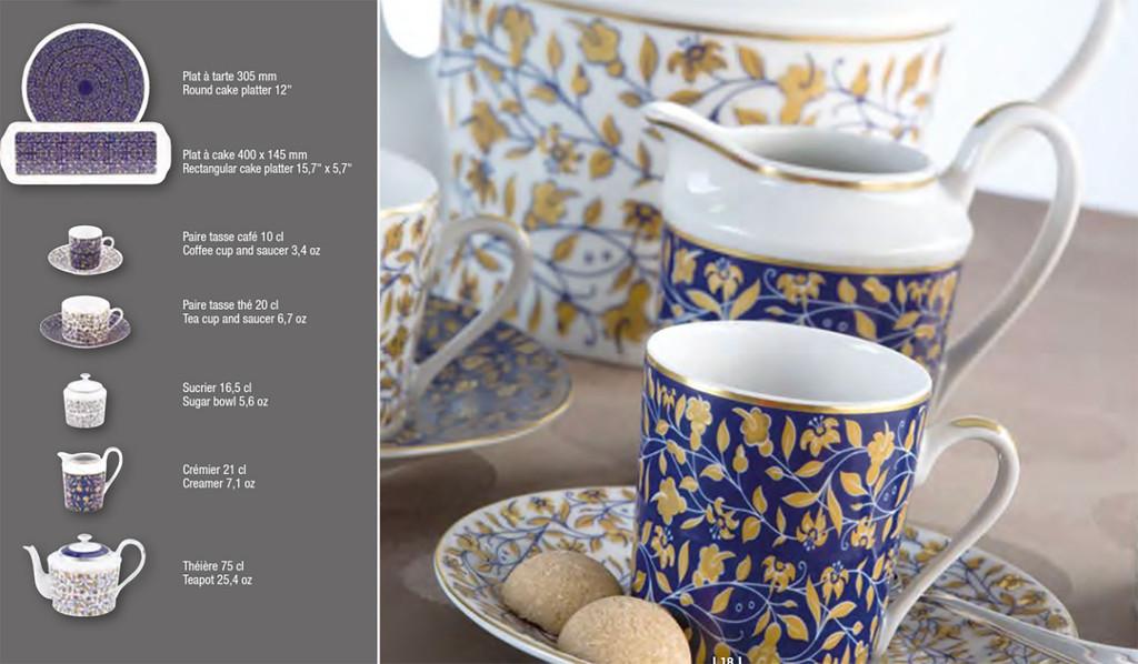 Deshoulieres Vignes Blue Tea Saucer, MPN: 034346, UPC/EAN: 3104363078830