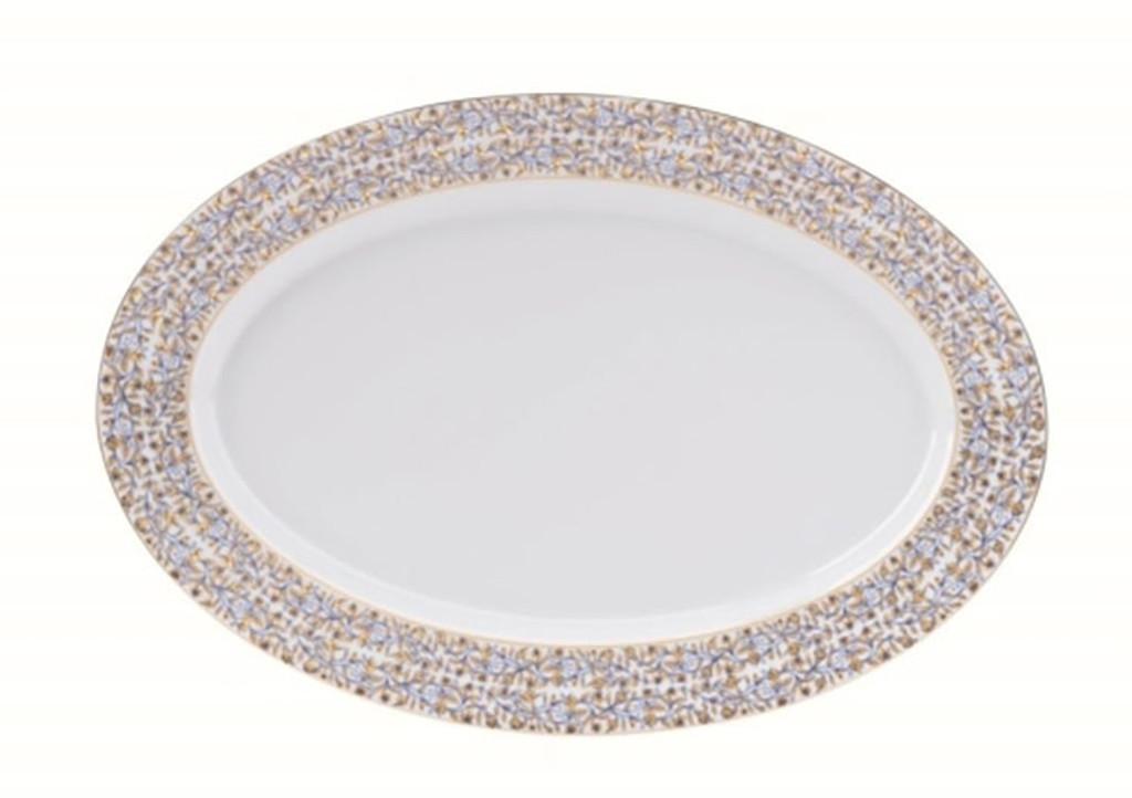 Deshoulieres Vignes White Oval Platter, MPN: 034354, UPC/EAN: 3104363079233