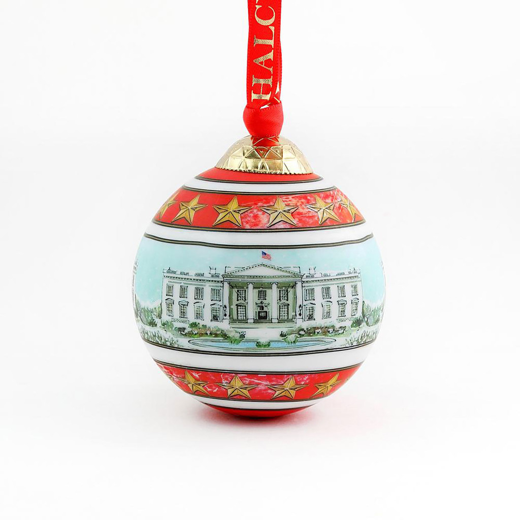 Halcyon Days The White House in the Snow Bauble Ornament , MPN: BCWIS01XBN