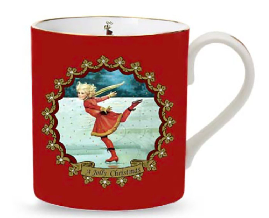 Halcyon Days Christmas Ice Skating Mug, MPN: BCSKA06MGG