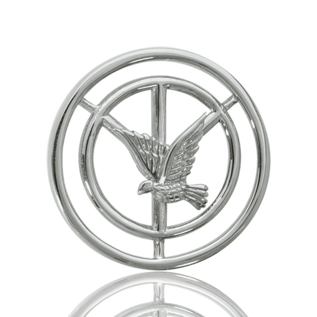 Nikki Lissoni Peace Pigeon Silver Plated 23mm Coin, MPN: C1029SS UPC: 8718627460894