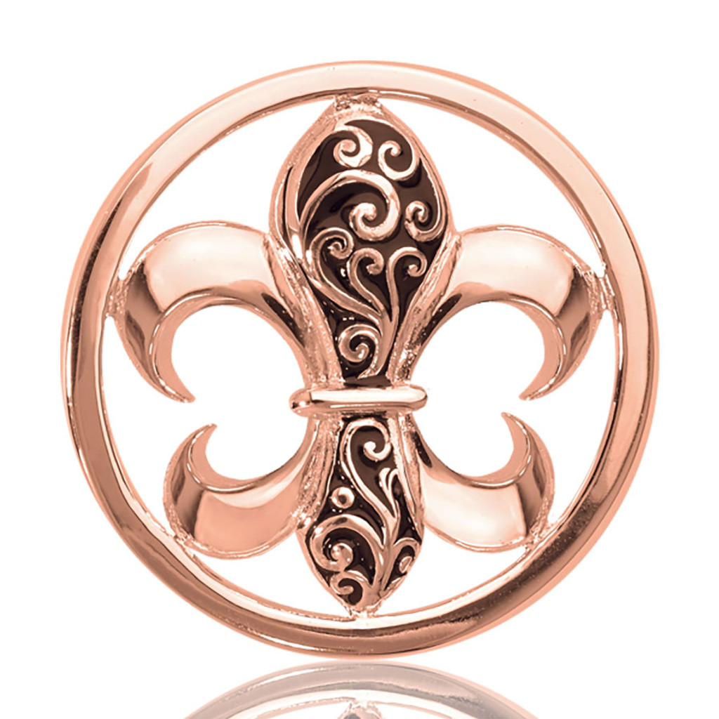 Nikki Lissoni French Curly Lilly Rose Gold Plated 33mm Coin, MPN: C1080RGM UPC: 8718627462164