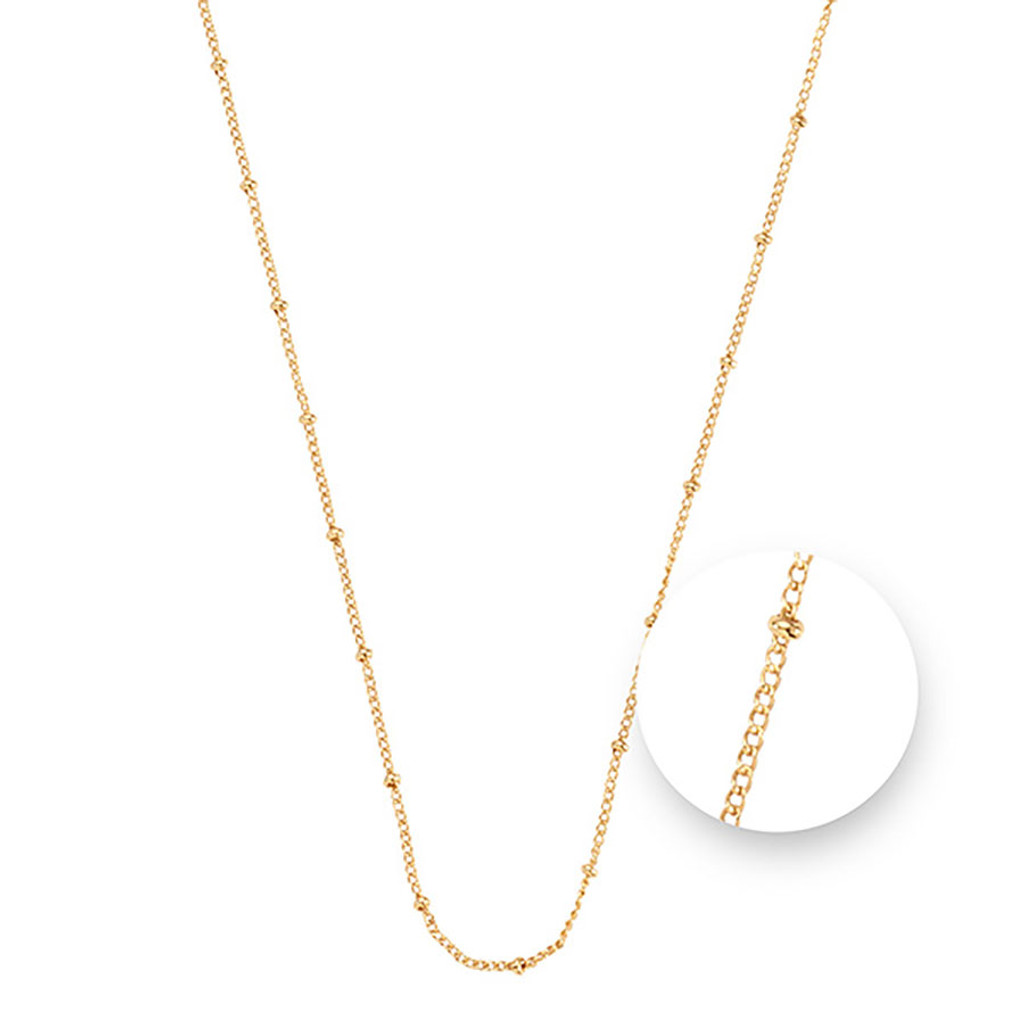 Nikki Lissoni Ball Gold Plated Necklace 45cm Compatible With Pendant, MPN: N1043G45 UPC: