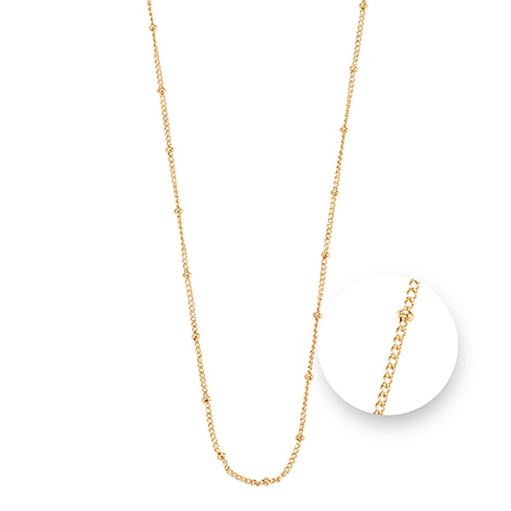 Nikki Lissoni Ball Gold Plated Necklace 75cm Compatible With Pendant, MPN: N1043G75 UPC: