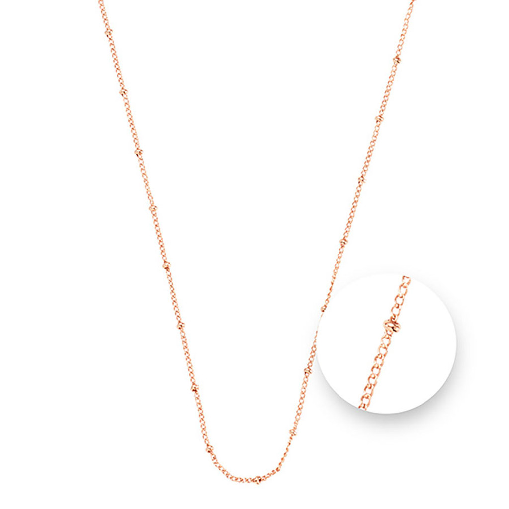 Nikki Lissoni Ball Rose Gold Plated Necklace 45cm Compatible With Pendant, MPN: N1043RG45 UPC: