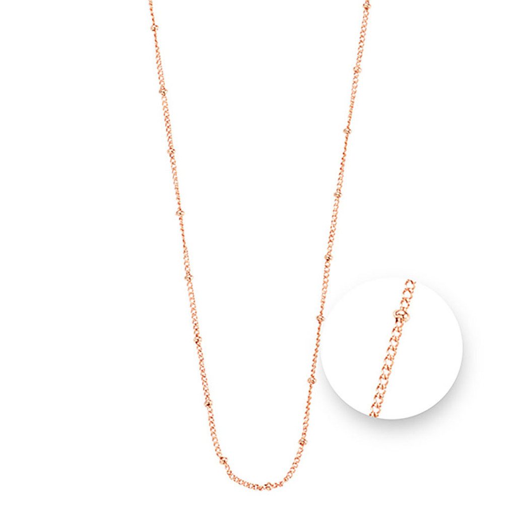 Nikki Lissoni Ball Rose Gold Plated Necklace 75cm Compatible With Pendant, MPN: N1043RG75 UPC: