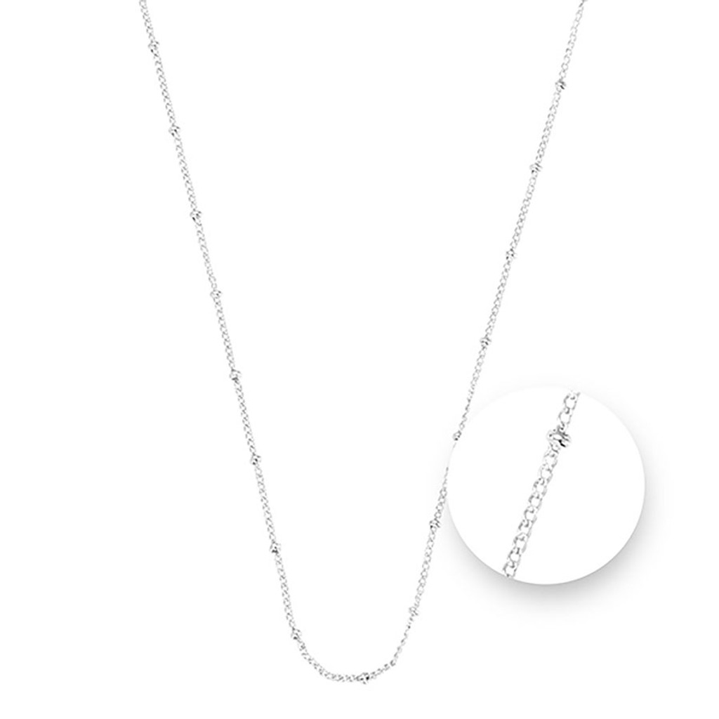 Nikki Lissoni Ball Silver Plated Necklace 45cm Compatible With Pendant, MPN: N1043S45 UPC: