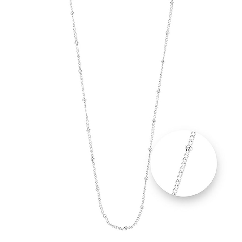 Nikki Lissoni Ball Silver Plated Necklace 75cm Compatible With Pendant, MPN: N1043S75 UPC: