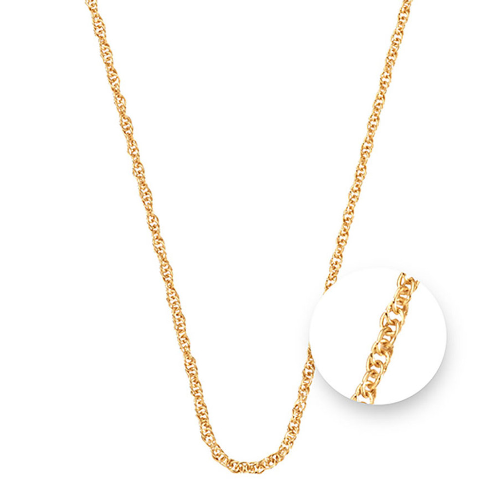 Nikki Lissoni Twisted Gold Plated Necklace 45cm Compatible With Pendant, MPN: N1044G45 UPC:
