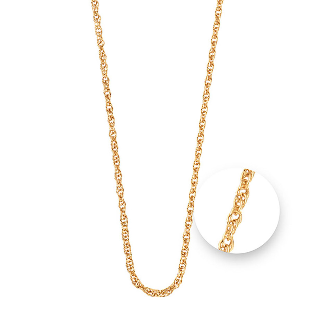 Nikki Lissoni Twisted Gold Plated Necklace 75cm Compatible With Pendant, MPN: N1044G75 UPC: