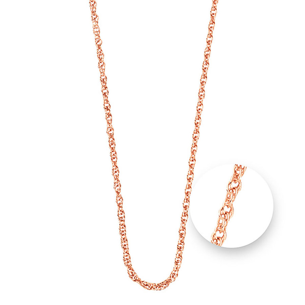 Nikki Lissoni Twisted Rose Gold Plated Necklace 75cm Compatible With Pendant, MPN: N1044RG75 UPC: