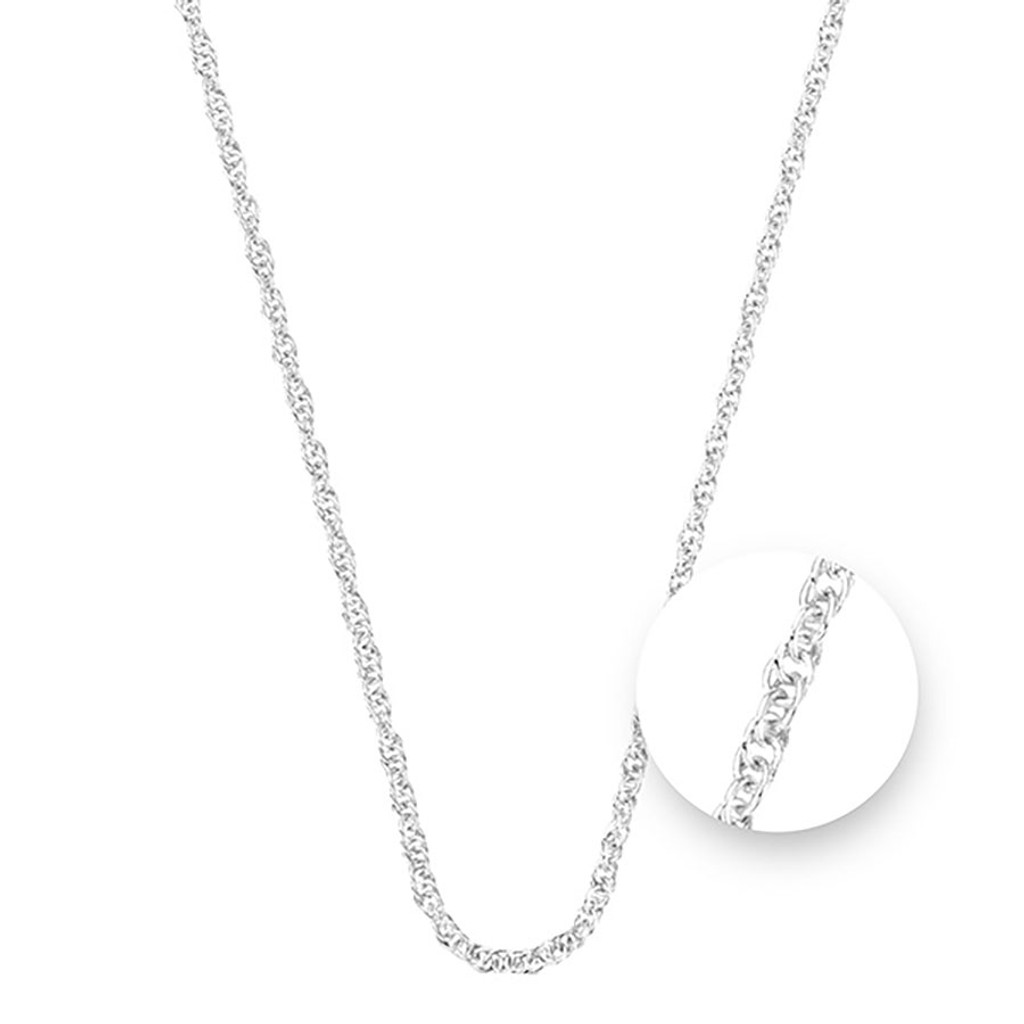 Nikki Lissoni Twisted Silver Plated Necklace 45cm Compatible With Pendant, MPN: N1044S45 UPC: