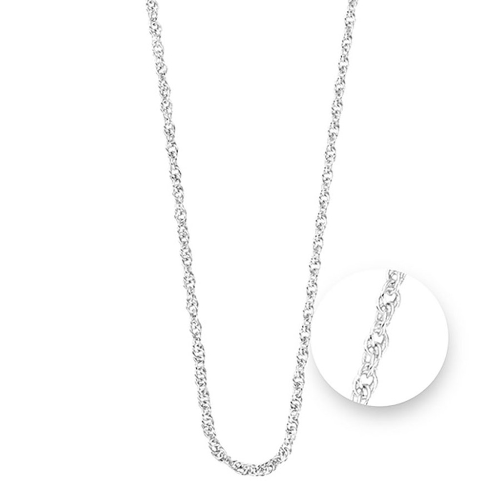 Nikki Lissoni Twisted Silver Plated Necklace 75cm Compatible With Pendant, MPN: N1044S75 UPC: