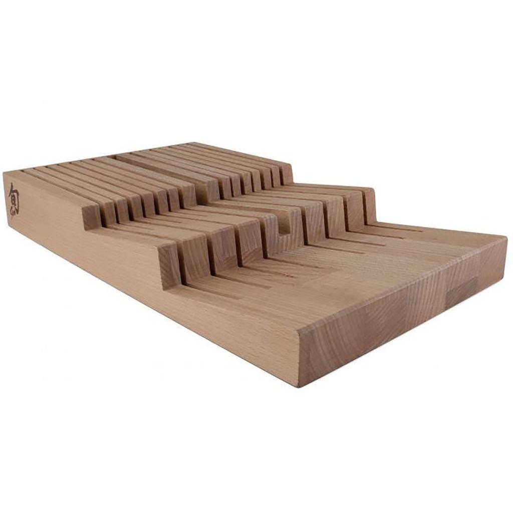 Shun In-Drawer Bamboo Knife Tray 15-Slot, MPN: DM0856, EAN/UPC: 87171060675