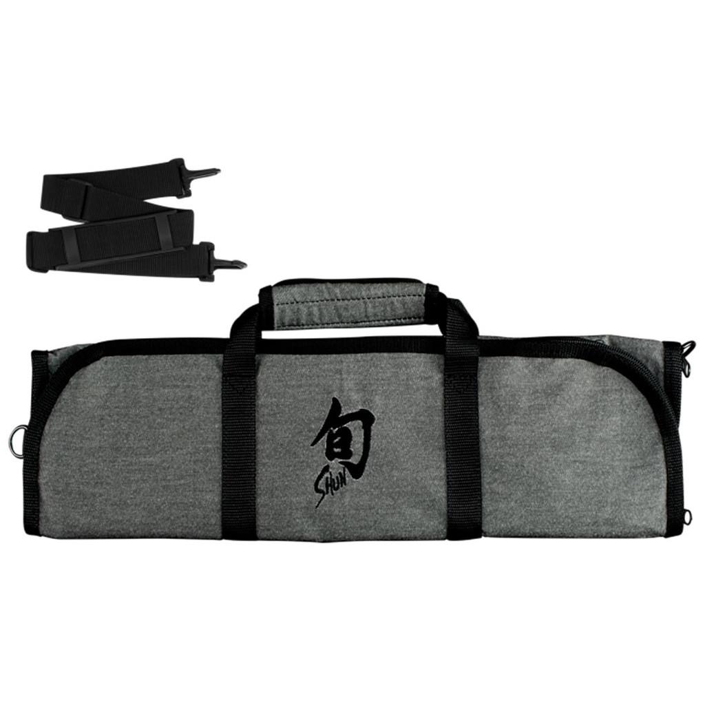 Shun Knife Roll 8 Slot Grey with Shoulder Strap & Black Shun Logo, MPN: DM0884, EAN/UPC: 87171055107