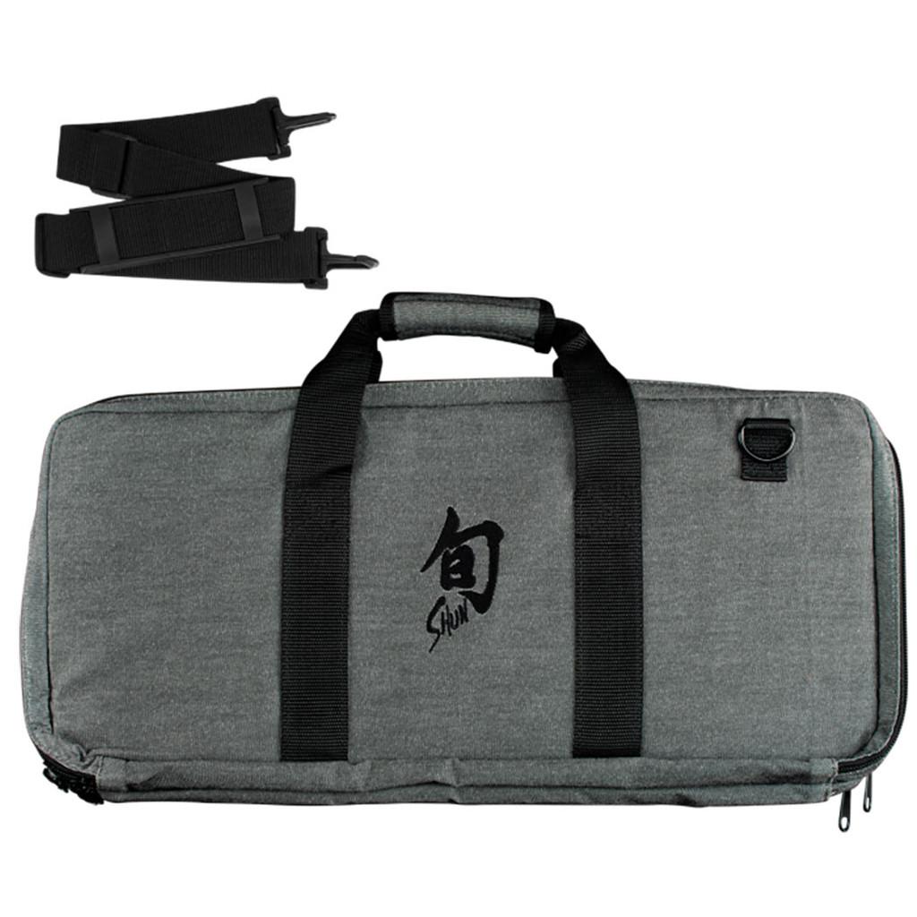 Shun Knife Case 20 Slot Grey with Shoulder Strap & Black Shun Logo, MPN: DM0886, EAN/UPC: 87171055114