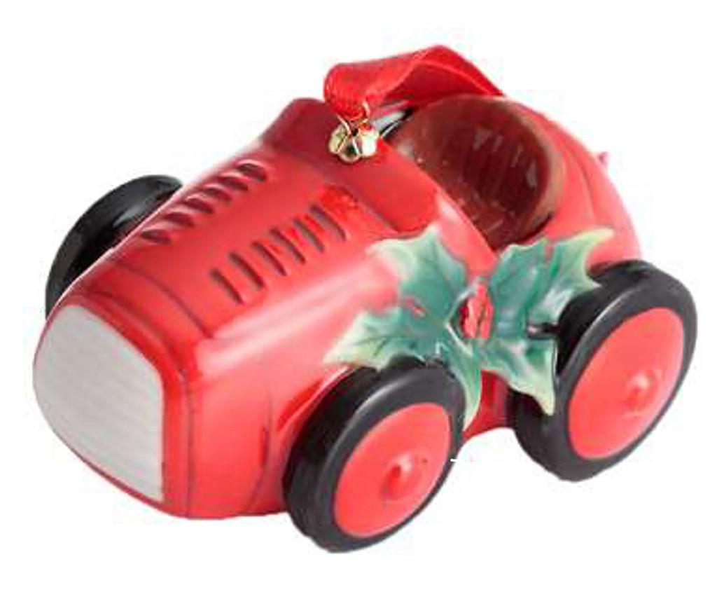 Franz Porcelain Holiday Greetings Red Vintage Car Ornament, MPN: FZ02772