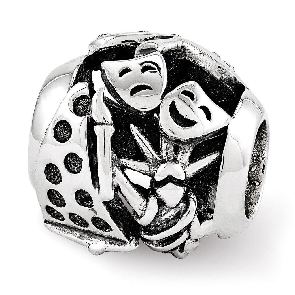 Swarovski New York Collage Bead - Sterling Silver QRS3429