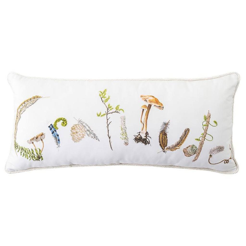 Juliska Forest Walk Gratitude 12 Inch x 27 Inch Pillow MPN: PW10/90, UPC: 810034834799