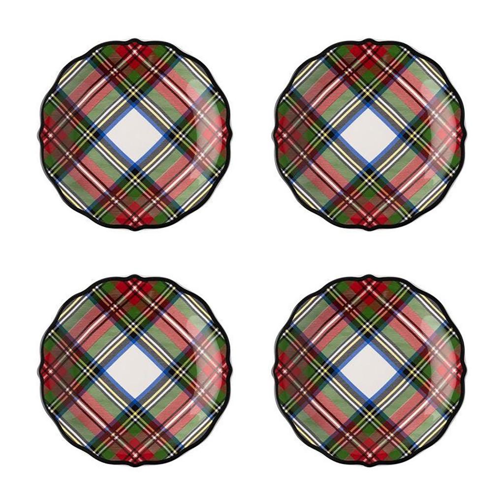 Juliska Stewart Tartan Cocktail Plates, Set of 4 MPN: TN03SET/88, UPC: 810034832269