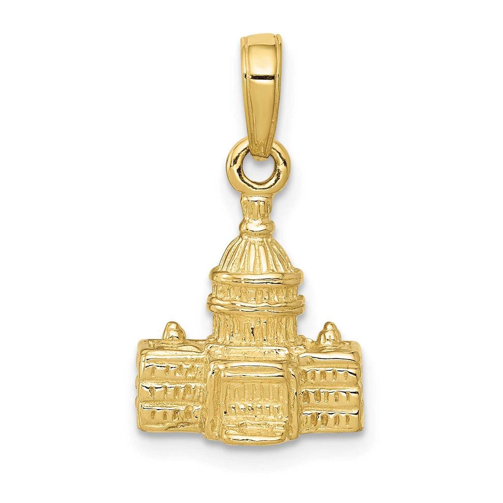 3-D Washington D.C. Capital Building Pendant 10k Gold, MPN: 10K5400, UPC: