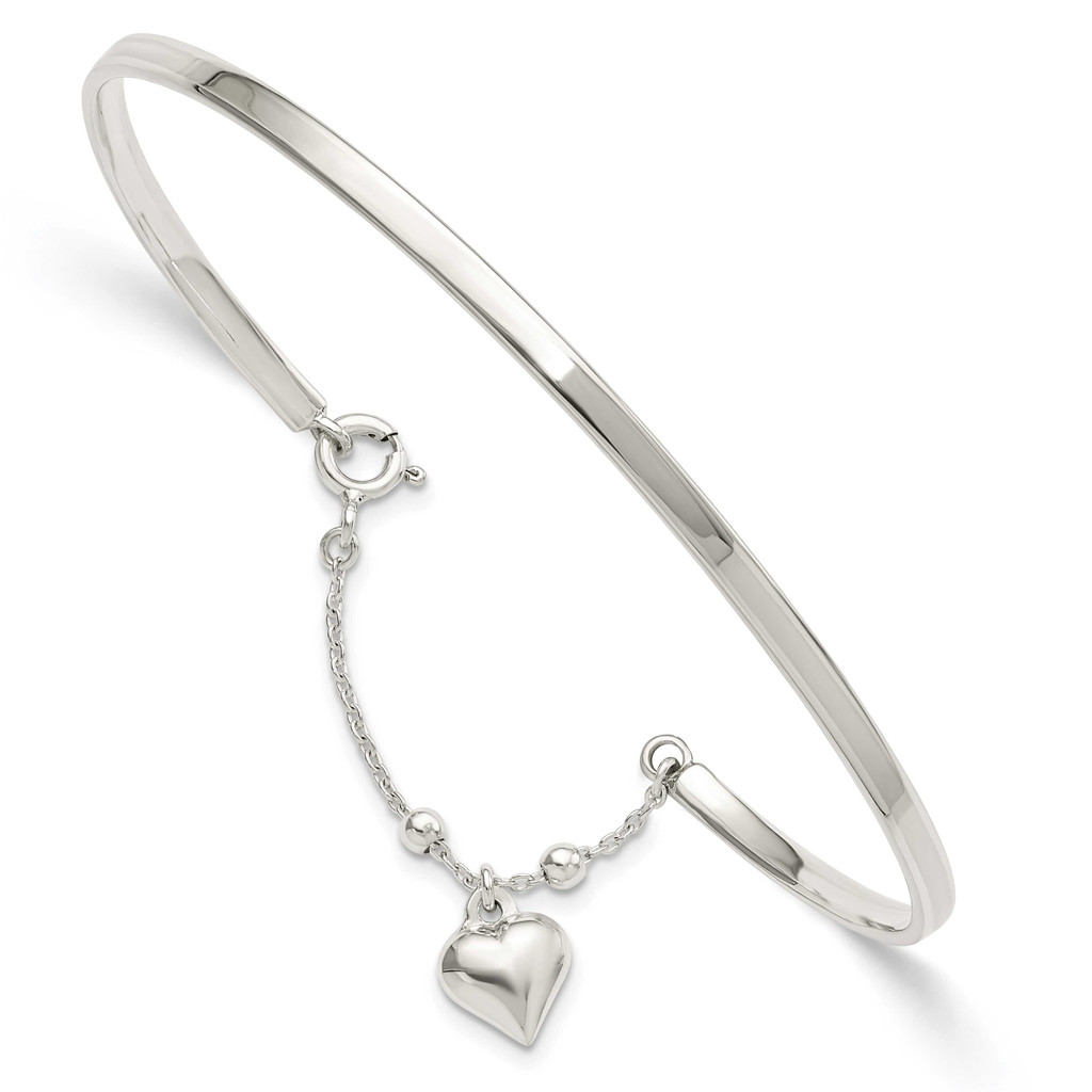 Puffed Heart Bangle Anklet Sterling Silver, MPN: QG5750, UPC: