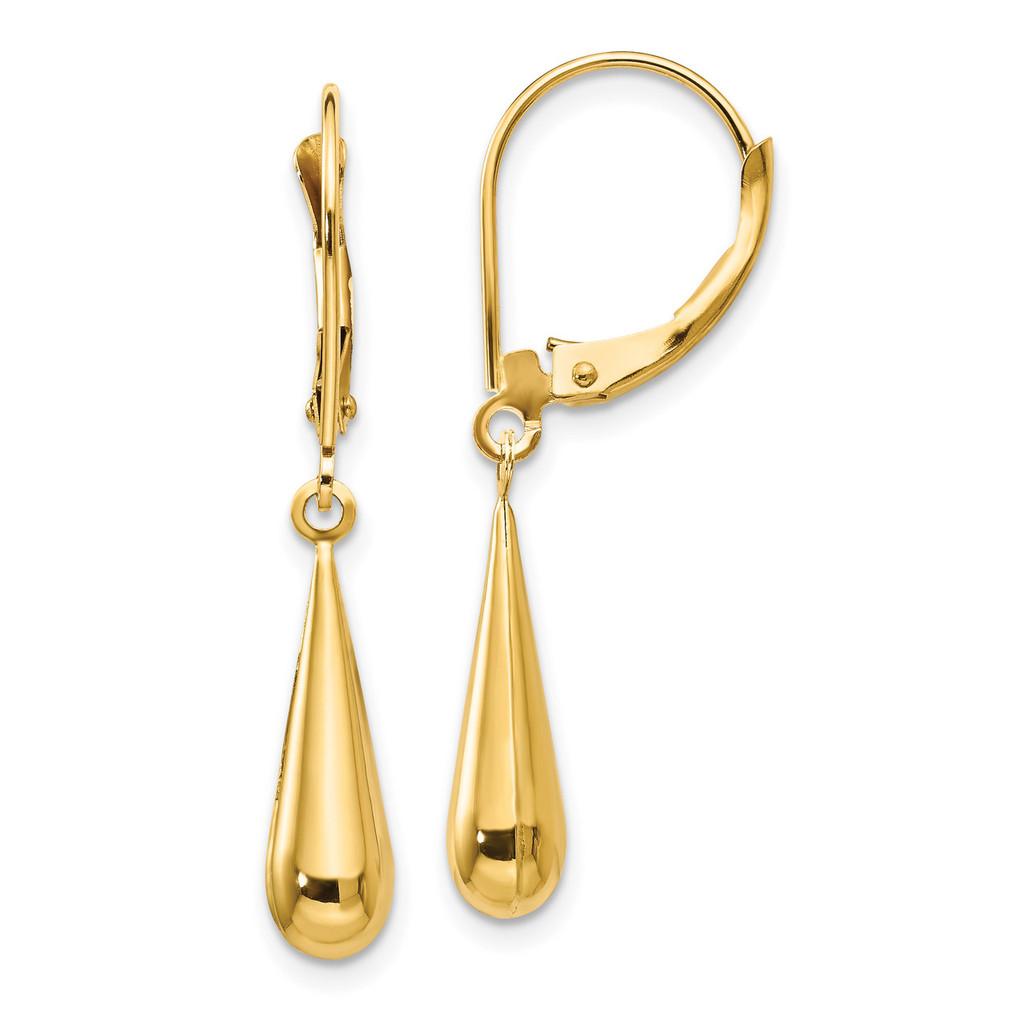 Madi K Tear Drop Dangle Earrings - 14k Gold SE1102