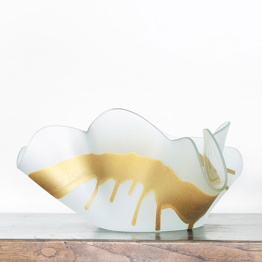 Annieglass Splatter Sculpture Large Frosted with satin, MPN: AN300G