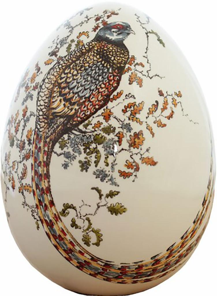 Gien Sologne Handpainted Egg Large Pheasant, MPN: 1819COE400, UPC/EAN: 840769049823