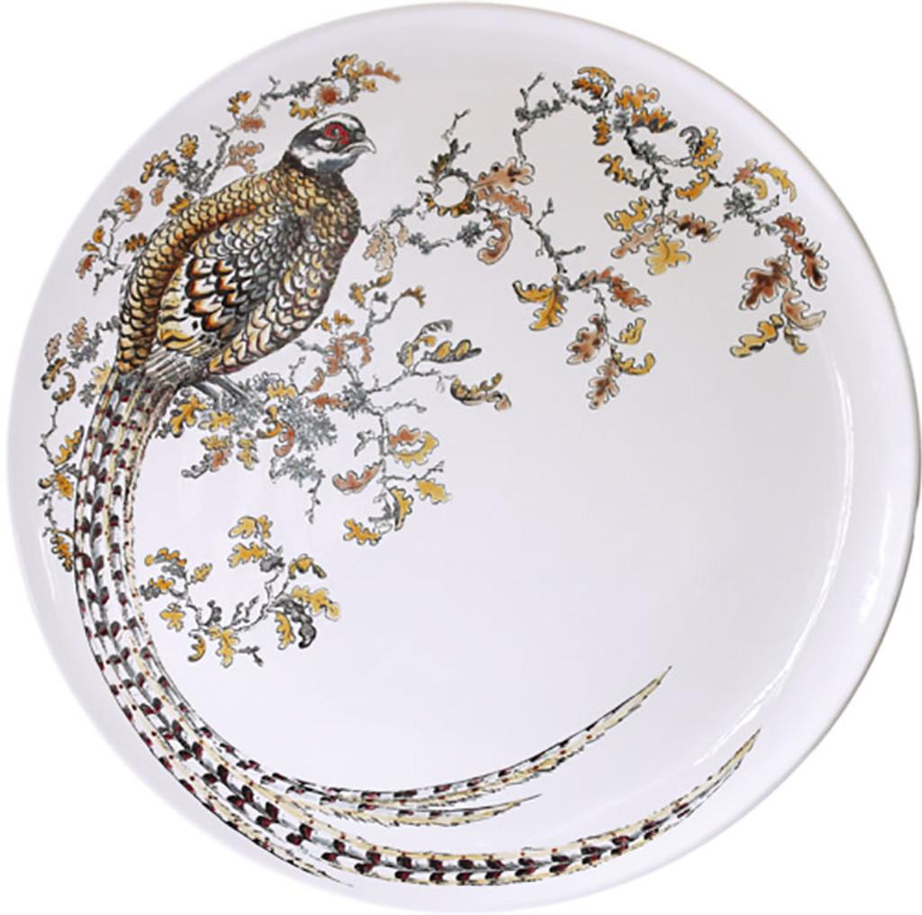 Gien Sologne Handpainted Large Wall Platter Pheasant, MPN: 1819CF1103, UPC/EAN: 840769009438