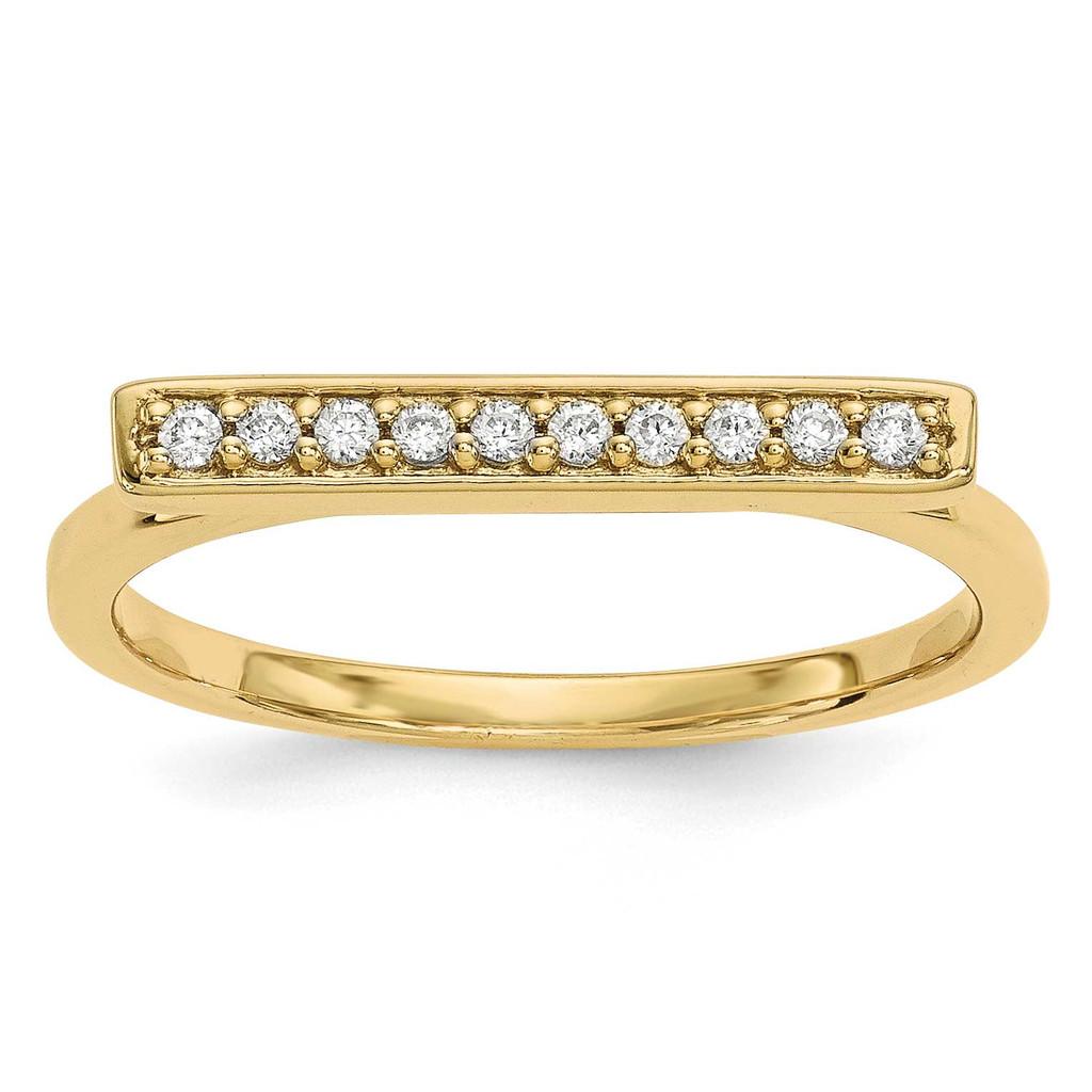 Diamond Bar Ring 14k Gold MPN: Y13742VS UPC: